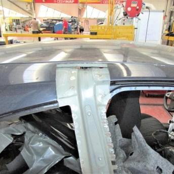 Sustitución del pilar B mediante ventana de acceso o desmontaje del techo