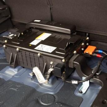 Batería de 48V de polímero de litio del Hyundai Tucson, ubicada en el maletero