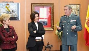Directora BN, Isabel Moyano, Director Guardia civil,
