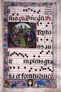 Cantoral Miniado, música, pequeño