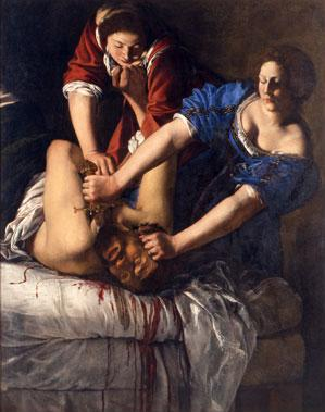 Judit y Holofernes de Artemisia Gentileschi, Museo Nazionale di Capodimonte de Nápoles en el Museo Thyssen