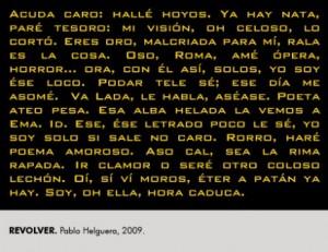 Revolver. Pablo Helguera