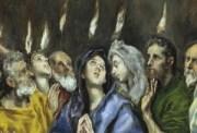 Pentecostés, detalle, El Greco, Museo del Prado