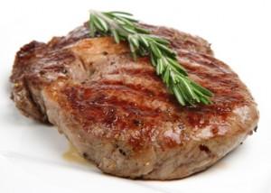 Seasoned & Cooked Rib-Eye Steak