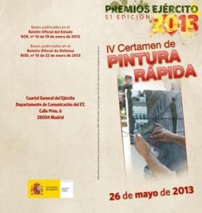 Certamen Pintura Rápida. Premios Ejercito 2013