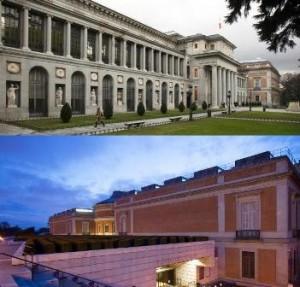 Museo del Prado, día y noche