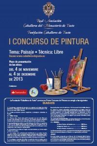 Cartel Concurso de pintura Fundación Caballeros de Yuste