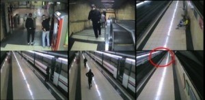 Detenido el líder del grupo de grafiteros 'Original Writers' por romper 24 cristales de un tren en la estación de Valdemoro (Madrid). Imágenes Policía Nacional.