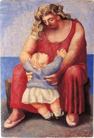 Pablo Picasso. Madre y niño. París, 1921. Colección privada. Cortesía Fundación Almine y Bernard Ruiz-Picasso para el Arte.  Foto: Eric Baudouin