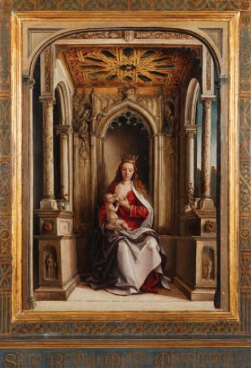 Virgen de la leche de Berruguete Museo de San Isidro de Madrid cedido en depósito en el Museo del Prado