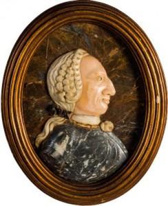 Carlos III mármol tallado Museo Artes Decorativas