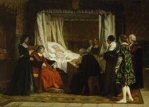 Doña Isabel la Católica dictando su testamento, Eduardo Rosales, Museo del Prado