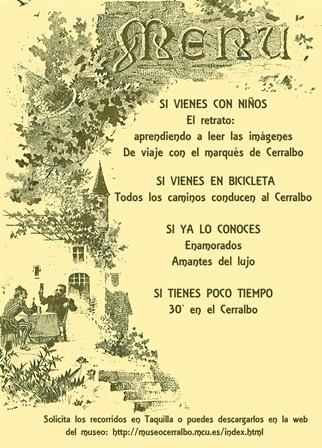 menú recorridos Museo Cerralbo