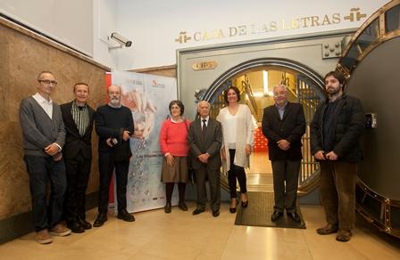 3 la consejera María José García y los artistas Luis Mayo, Juan Carlos Savater, Clara Anguita Joaquín Risueño y Venancio Blanco