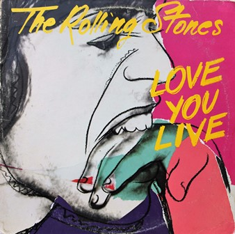 Andy Warhol_Portada del disco Love You Live The Rolling Stones_Rolling Stones Records_1977