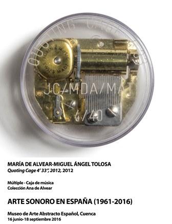 MARÍA DE ALVEAR-MIGUEL ÁNGEL TOLOSA.Quoting Cage 4'33'', 2012