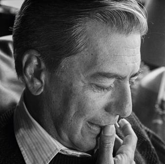 Mario Vargas Llosa at home, Lima, Peru, 23 August 1989