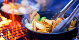 Recetas para camping: pollo con arroz al azafrán