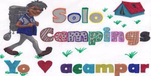 Yo ♥ acampar, para colorear