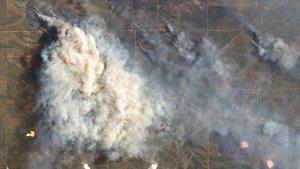 Columnas de humo de incendios forestales sobre Argentina – imagen satélite Landsat 8-NASA