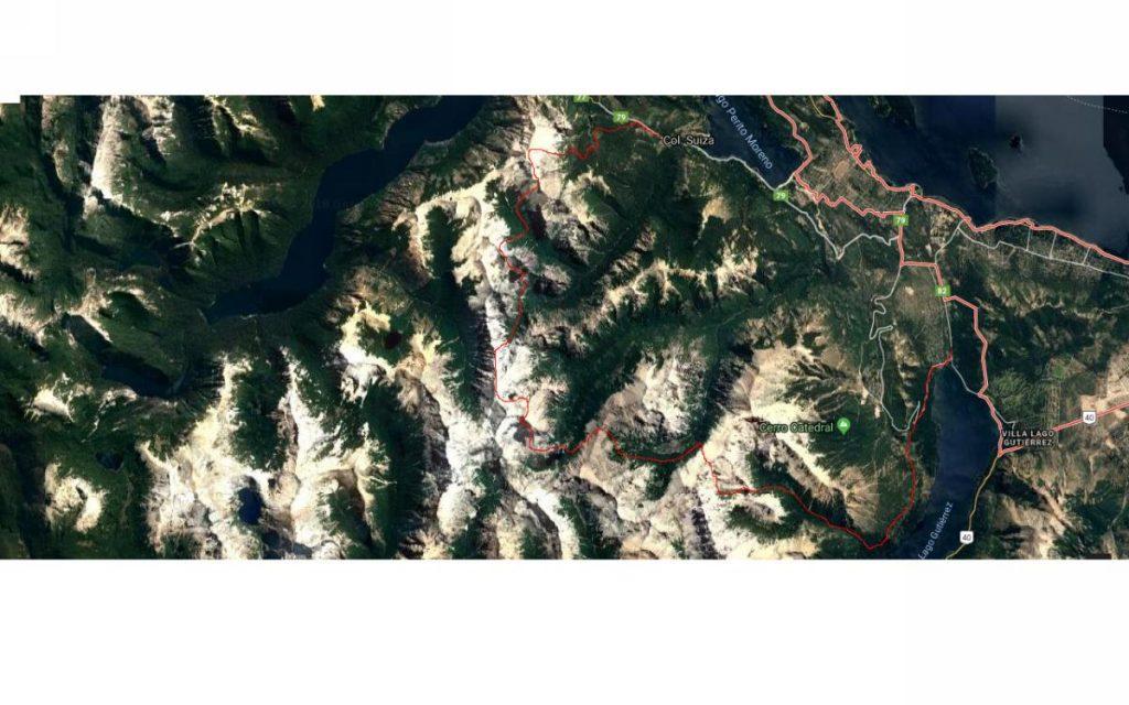 Mapa Villa Los Coihues - Colonia Suiza