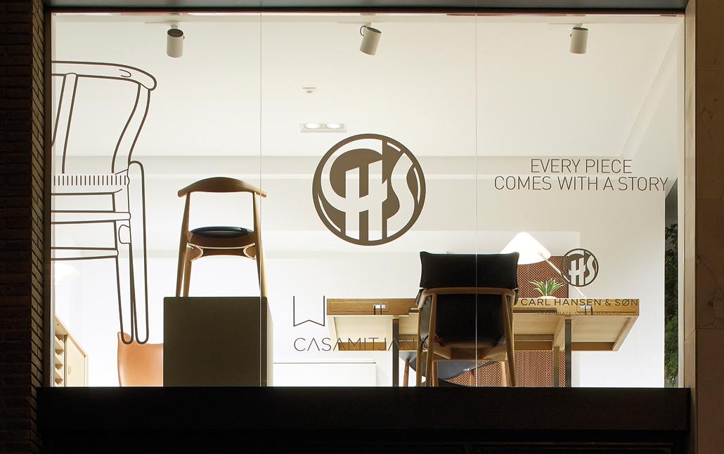 la emblemtica marca de diseo escandinavo carl hansen u son cuenta ya con una espacio propio en barcelona dentro del histrico showroom casamitjana