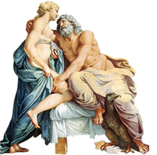 Júpiter (Zeus) e Juno (Hera) por Annibale Carracci, século XVI