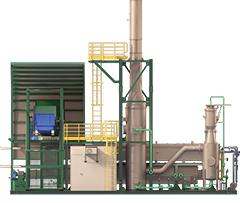 Termolix: ela pode processar até 5.000 kg/dia<br /><br /><br /> de vários tipos de resíduos - Crédito/Imagens: Divulgação Atteris