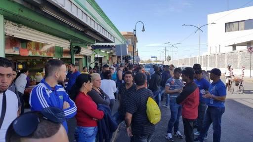 Cubanos varados en Nuevo Laredo / Foto: Cortesía del autor