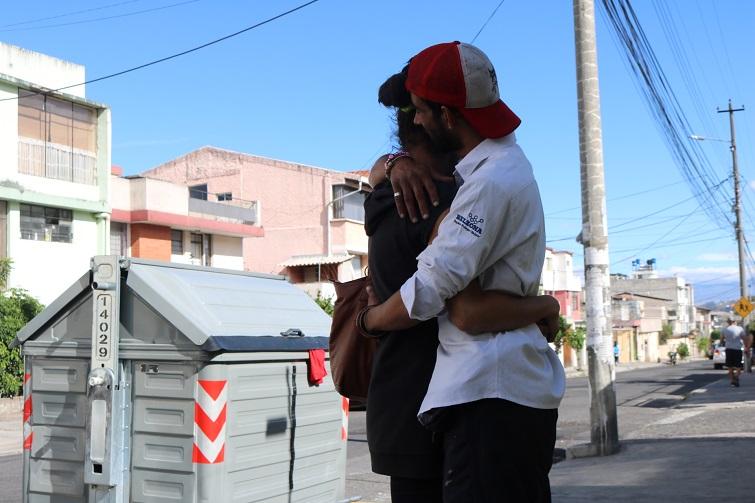La cubana y su pareja prefieren estar en el anonimato / Foto: Cortesía del autor