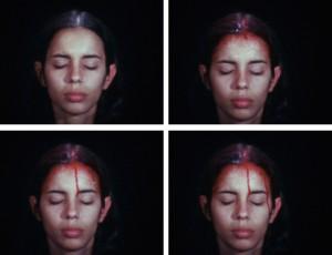 Sweating Blood, 1973. Galerie Lelong./ Ana Mendieta.