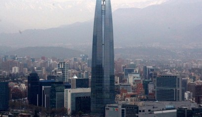 Edificio Costanera Center, Santiago de Chile. Septiembre de 2019 / Foto: Jesús Adonis Martínez