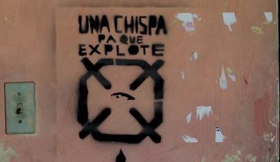 Stencil en el departamento de Gorky / Foto: Dahian Cifuentes