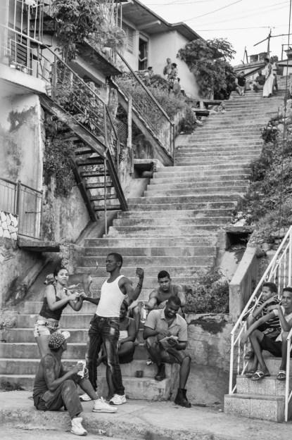 William Riera. Las escalinatas de Santiago (Calle 15, Reparto Altamira).