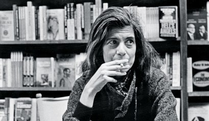 Susan Sontag, Cambridge, Massachusetts, ca. 1970s. Donald Dietz.