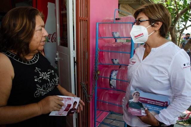 EL DISTRITO IV DE VERACRUZ YA ES TERRITORIO MORENA: ROSA MARÍA HERNÁNDEZ ESPEJO