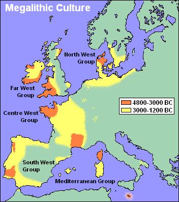 Expansão da Cultura Megalítica.