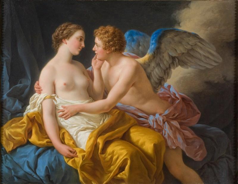 Amor e Psique por Louis-Jean-François Lagrenée (1805). Wikipedia.