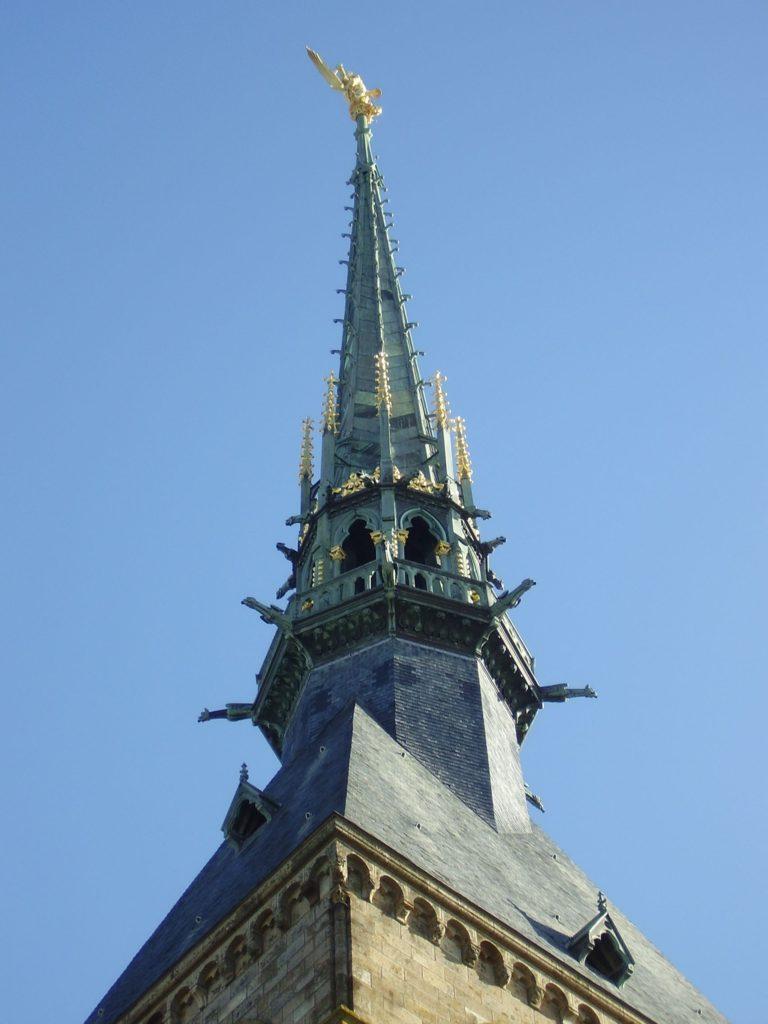 Torre da abadia do Monte St. Michel / Wikimedia Commons