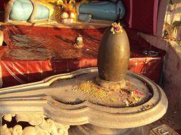 Lingam e yoni num templo de Shiva em Omkareshwar