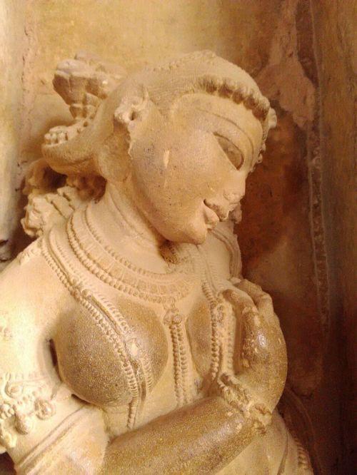 Apsara num templo de Khajuraho