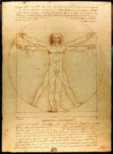 Homem Vitruviano, Leonardo da Vinci / wikipedia