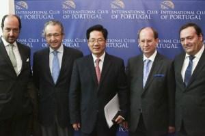 Francisco Almeida Leite, JosÇ Ribeiro e Castro, Embaixador Huang Songfu, Manuel Ramalho e M†rio Magalh∆es