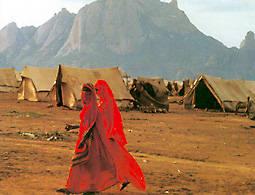 El pueblo saharaui sobrevive desde hace 25 años en los campamentos de refugiados de TINDUF (desierto argelino), gracias a la ayuda humanitaria.