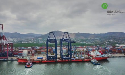 SSA México adquiere dos grúas Super Post-Panamax en el puerto de Manzanillo