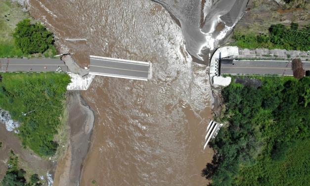 """SCT atiende daños a la infraestructura carretera ocasionados por Ciclón Tropical """"Nora"""""""