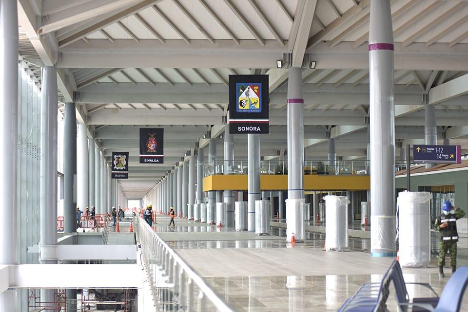 """Aeropuerto Internacional Felipe Ángeles"""" presenta avance físico del 69 por ciento"""