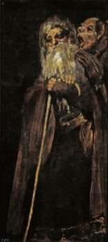 GOya Dos frailes, Pinturas Negras, 1819-1823