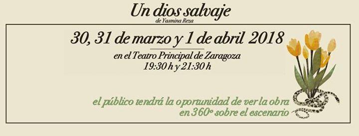 Un dios salvaje. Microteatro en casa. Teatro Principal de Zaragoza.