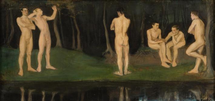 Juventud, 1897, Magnus Enckell. homoerotismo